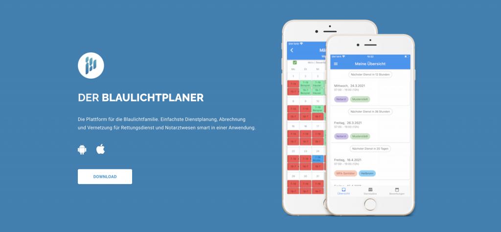 Freie Dienste per App planen: Smarte Vernetzung der Blaulichtfamilie